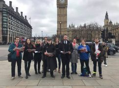 Anti-Brexit musicians sing Ode to Joy at Westminster