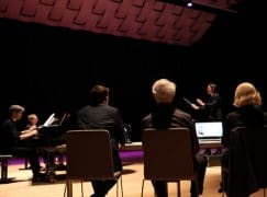 At Besancon, it's 17 men and 3 women in the conducting finals