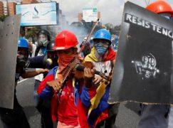 Venezuela forces break a violin