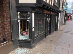 Smash and grab at London music store