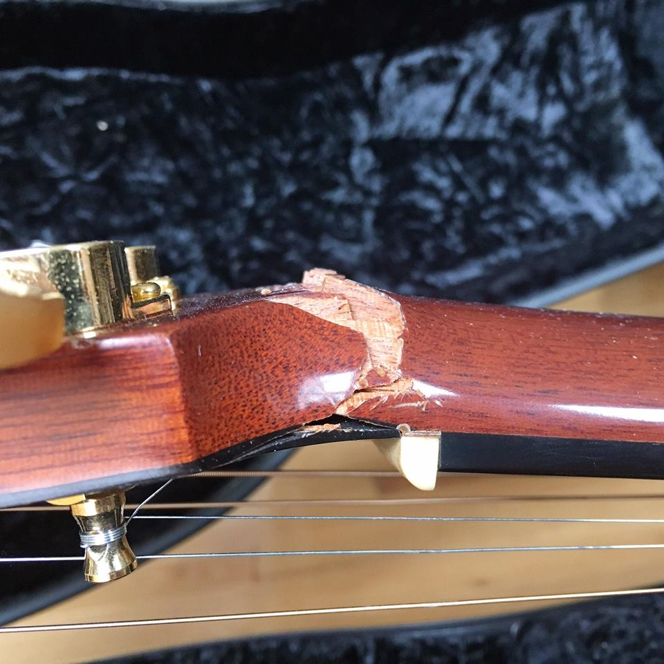 Air Canada 'broke the neck of my $4,000 guitar'