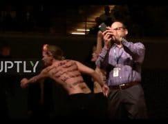 Topless women crash Woody Allen concert at the Elbphilharmonie