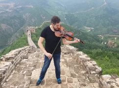 Bach is off on the Great Wall of China