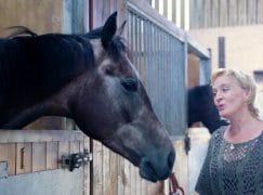 The horse singer: Ex-diva trains gee-gees to win