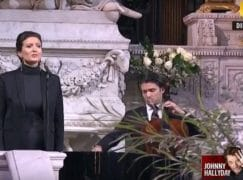 It's a classical funeral for Johnny Hallyday