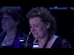 Watch: Schindler's List leaves soloist in tears