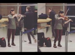 Snowbound at JFK? This violinist can help…