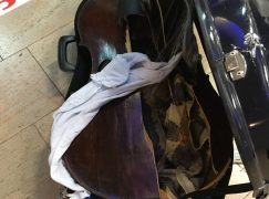 How Alitalia treats a 17th century viola da gamba