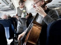 Protestor claims victory: Airline cancels cello fee