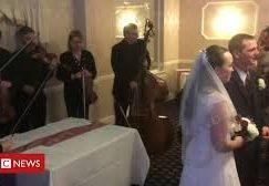 Watch: snowbound BBC concert orchestra plays at wedding instead
