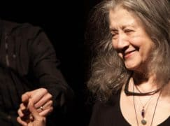 Martha Argerich, 77 today, joins the three monkeys