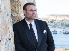 Joseph Calleja is confronted by Malta protestors