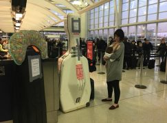 A double-bass, a little baby and an airline that loves to say NO