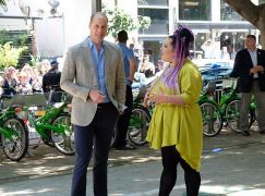 Watch: Prince William goes walkabout in Tel Aviv with Eurovision winner