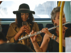 Top deck: Royal Philharmonic Orchestra goes busking on the 25 bus
