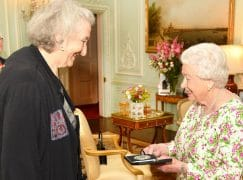 The Queen gives music medal to a NY composer
