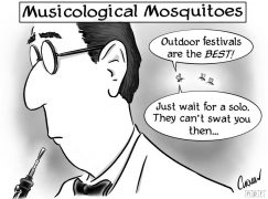 Which festival has the worst mosquitoes?