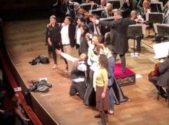 Netrebkos get audience on stage for closing duet