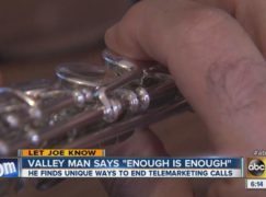 Man uses flute to kill cold callers