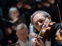 Longest serving violinist in a UK orchestra?