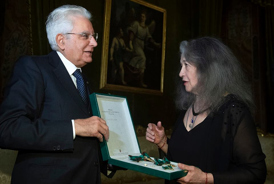 Italy gives highest honour to Martha Argerich