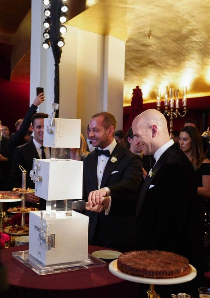 Michael Fabiano gets married at the Met