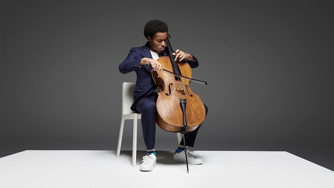 Royal cellist is now a clothes model
