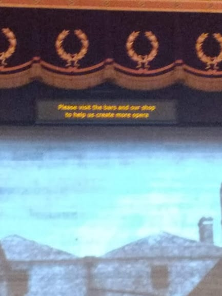 Opera house implores audience to drink more at the bar