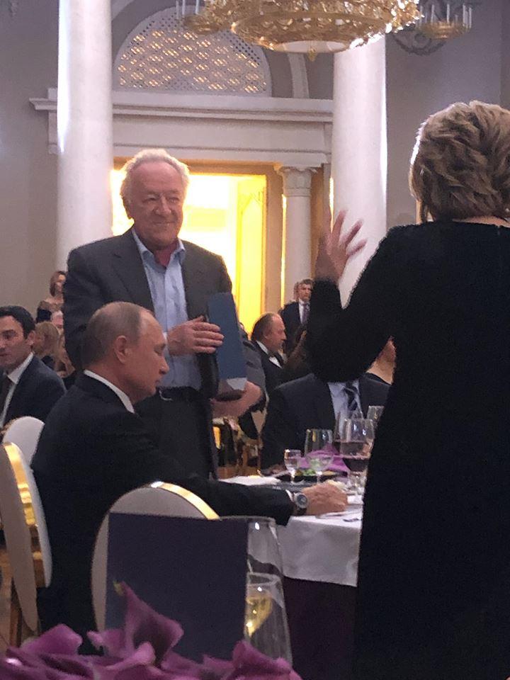 Putin turns out for Temirkanov's 80th birthday