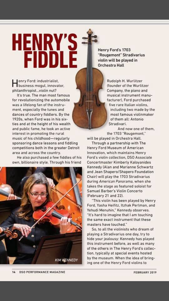 Henry Ford's Stradivarius comes back into play
