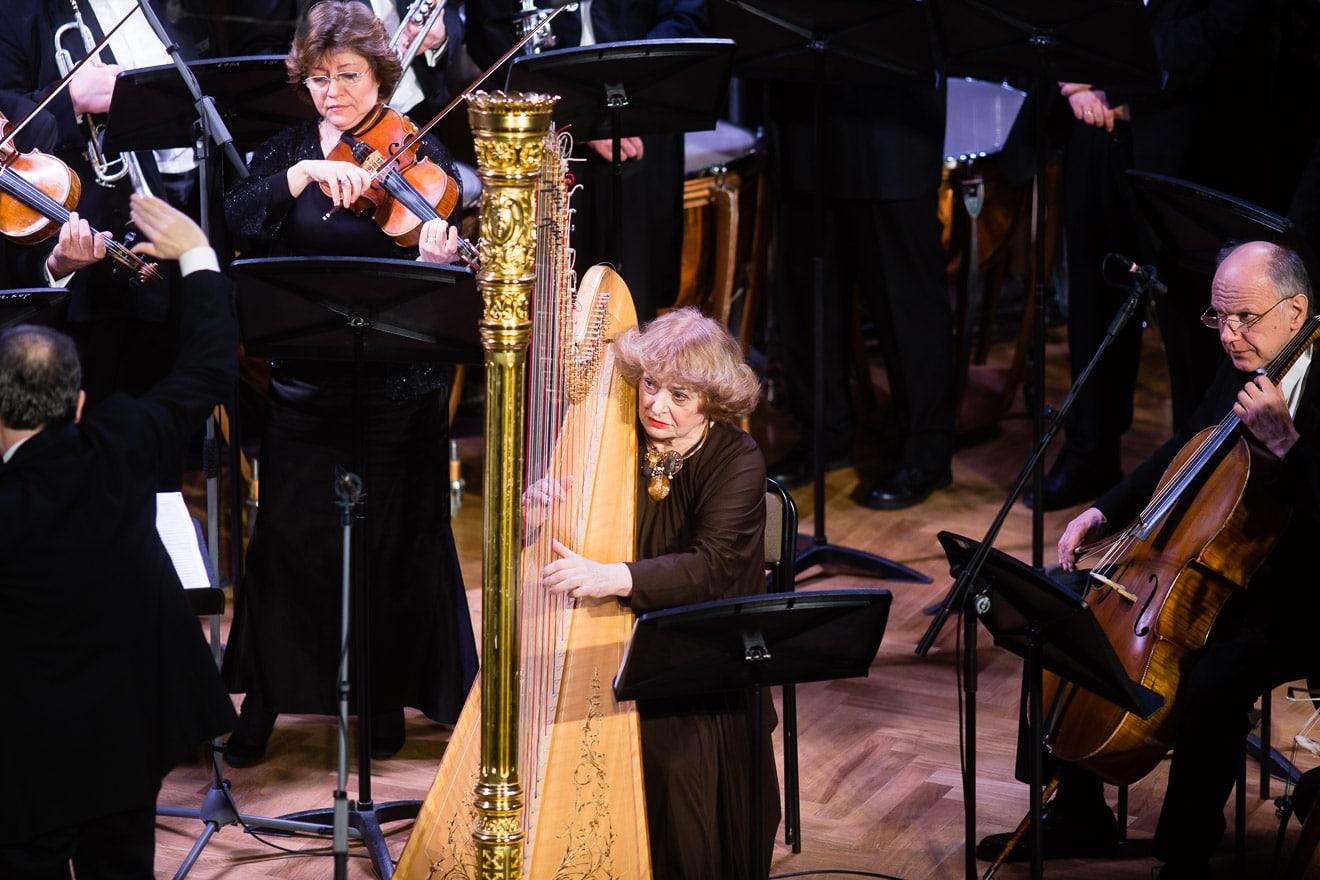 President Putin remembers a harpist's 80th birthday