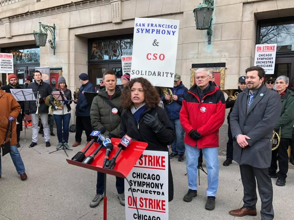 US musicians raise $200k for Chicago strikers