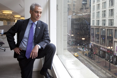 Chicago strike: The Mayor gets stuck in
