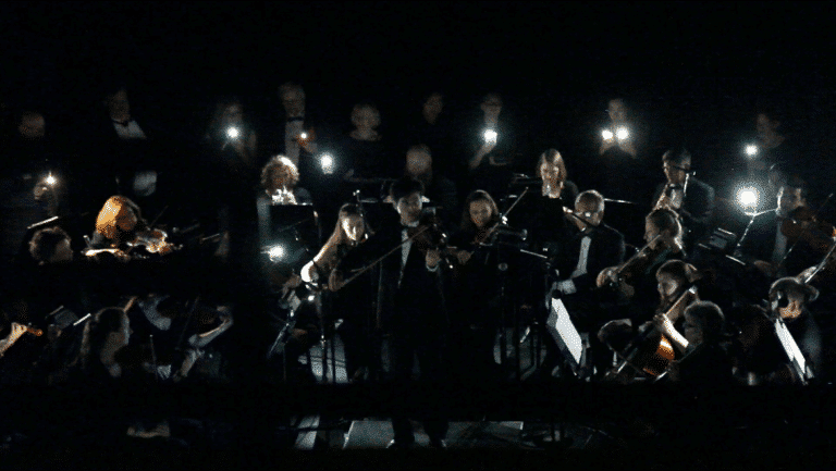 The orchestra that played on by light of its cellphones