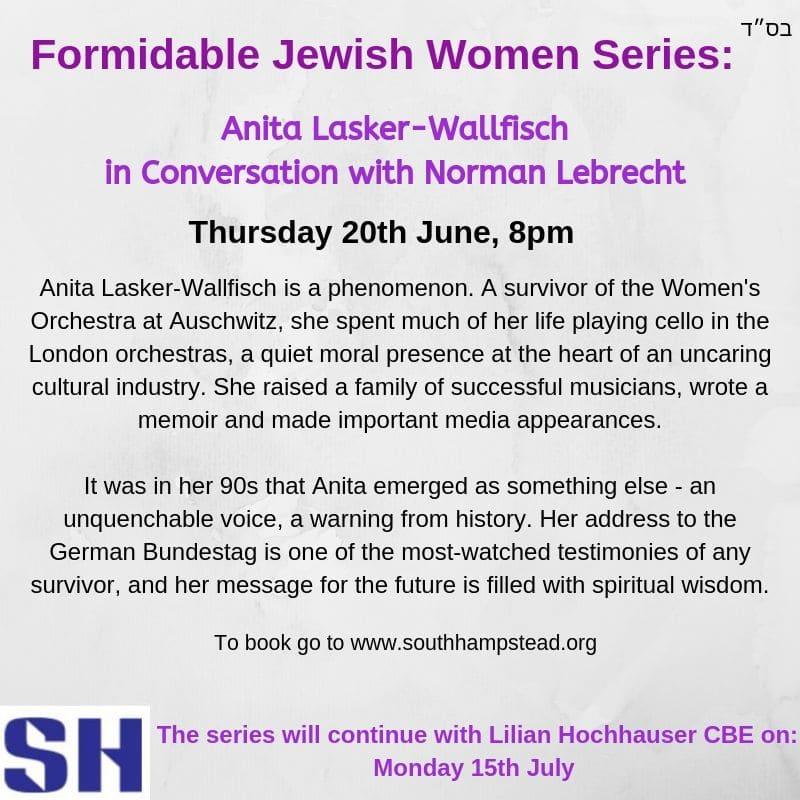 A conversation with Anita Lasker-Wallfisch