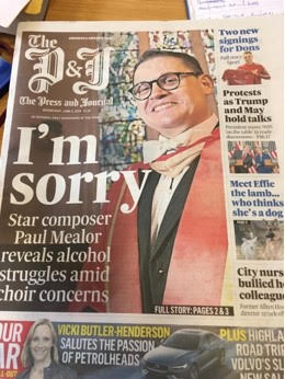 Breaking: Top composer cuts back over alcohol issues