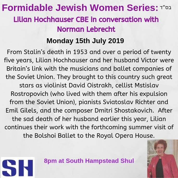 Come and hear Lilian Hochhauser who broke the Soviet ice