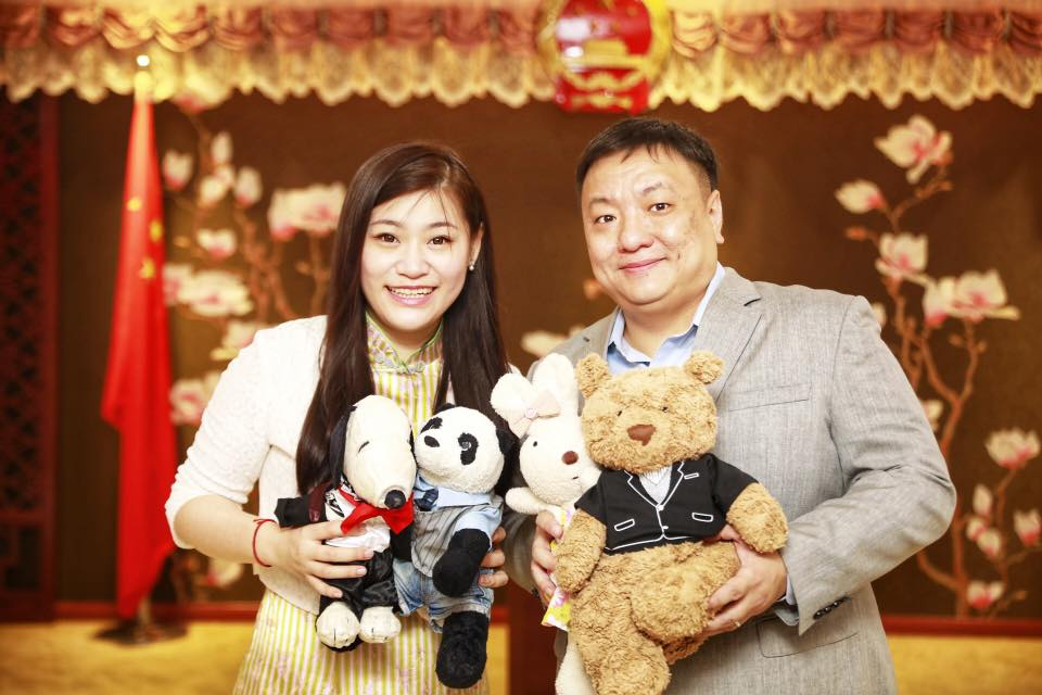 Wedding bells for Chinese champion