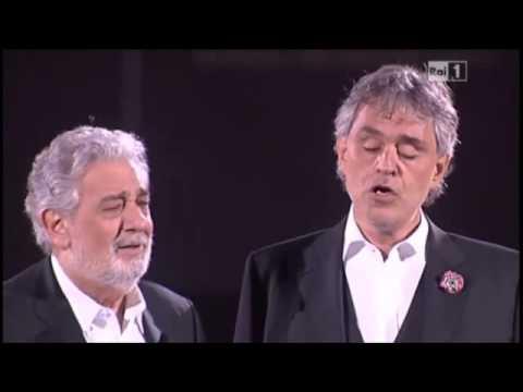 Bocelli lets rip for Domingo