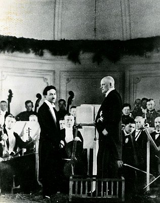 Sibelius with his Jewish friend, Boris