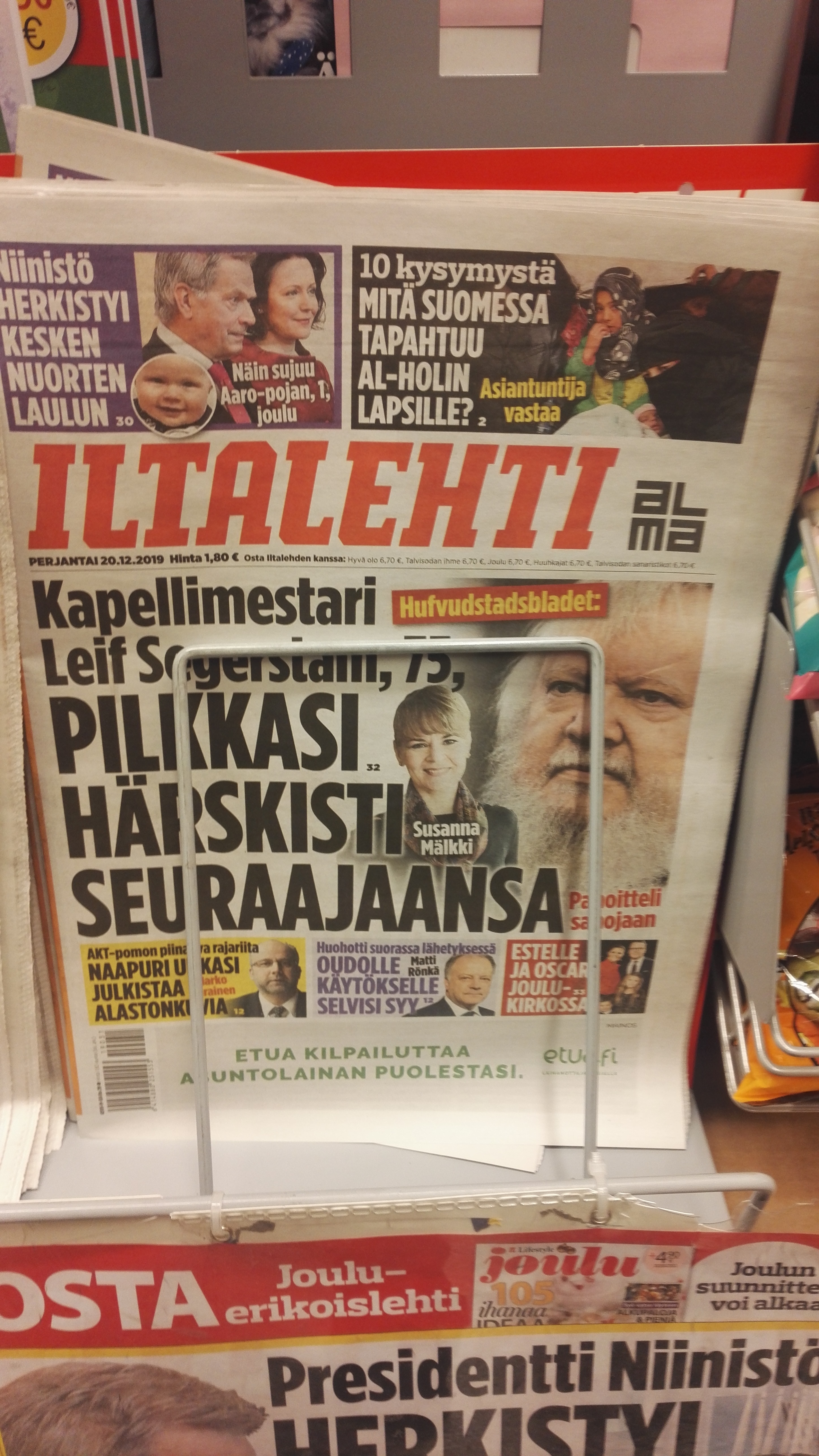 Conductor lacks balls hits Finland's front page
