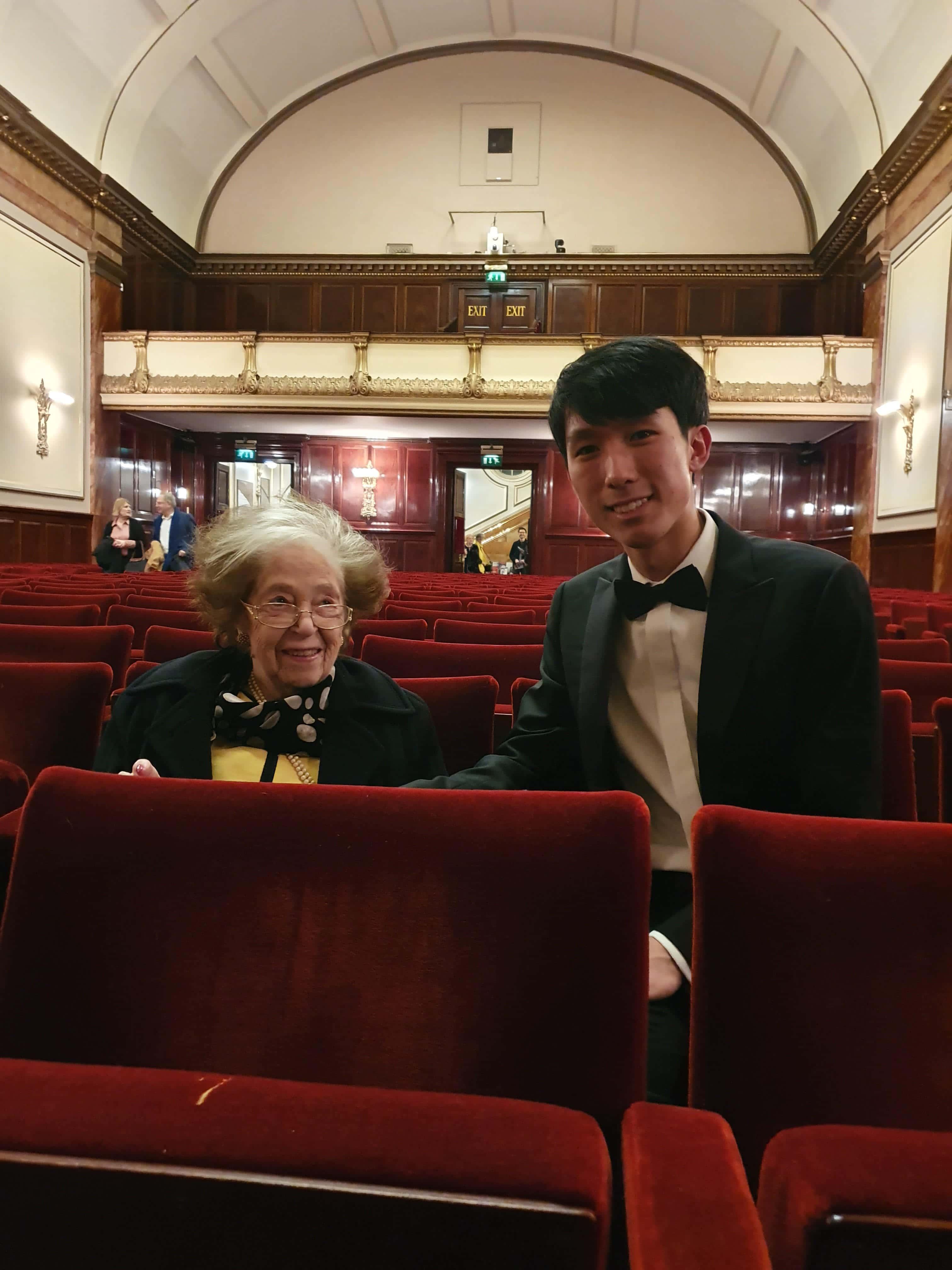 Brendel heads piano elite at Lu's debut