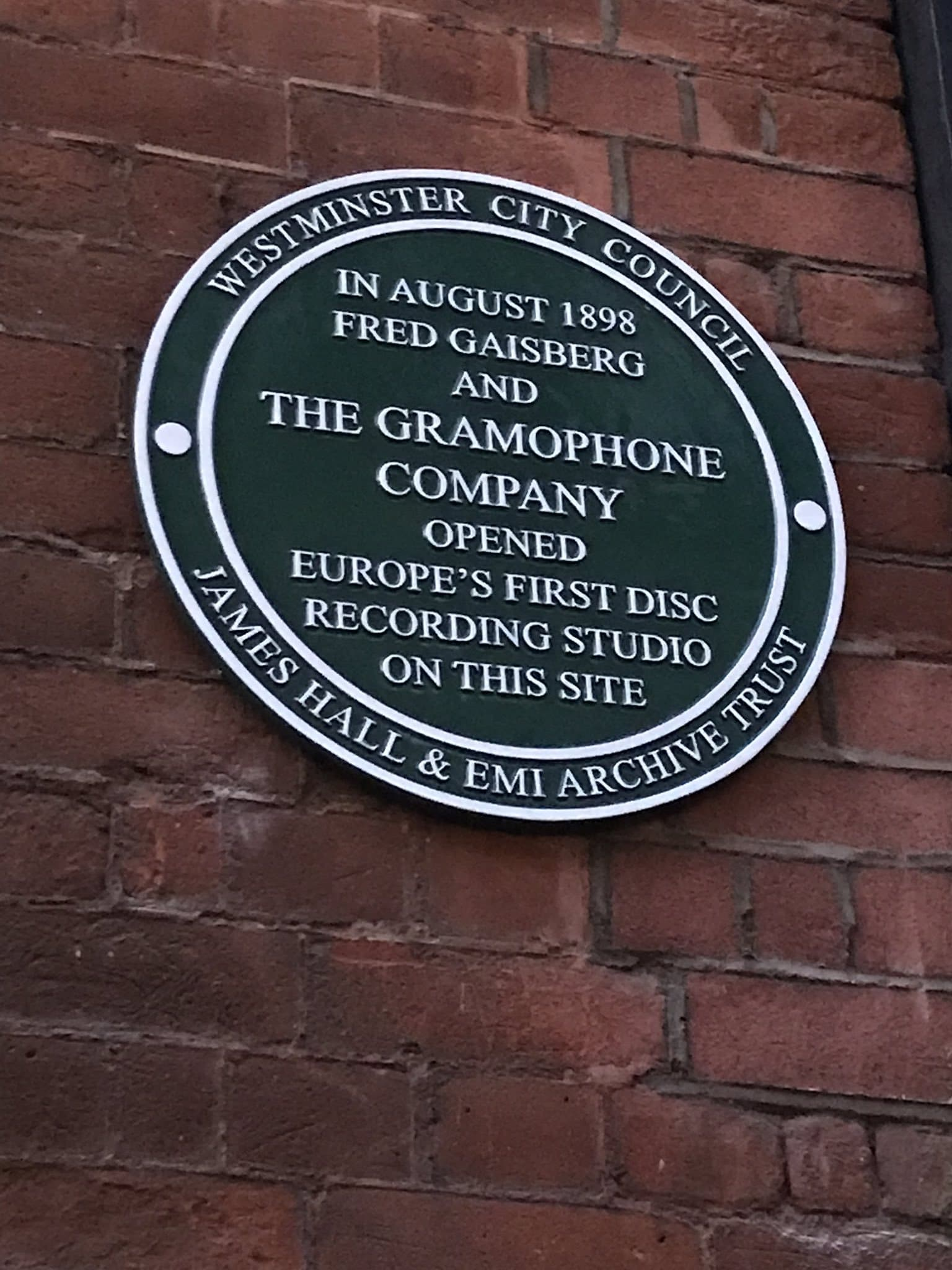 Plaque goes up on first record studio