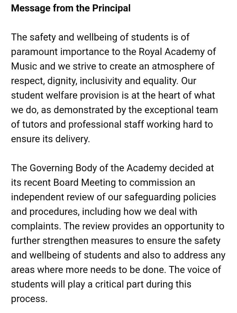 Royal Academy calls external inquiry into Gareth Hancock case