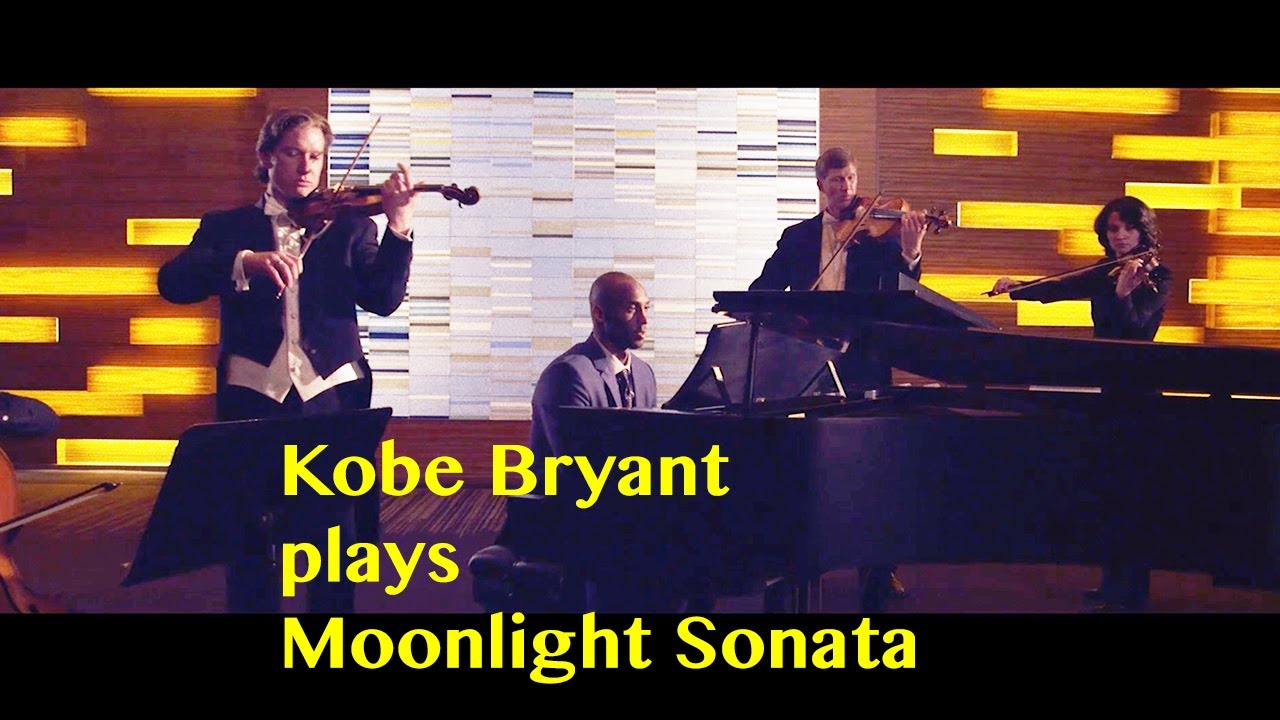 The late Kobe Bryant learned to play Beethoven's Moonlight Sonata