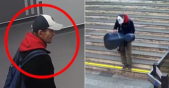 Thief is caught on camera stealing cello