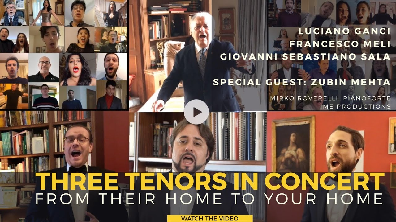 Exclusive: Three tenors give extraordinary at-home concert with Zubin Mehta