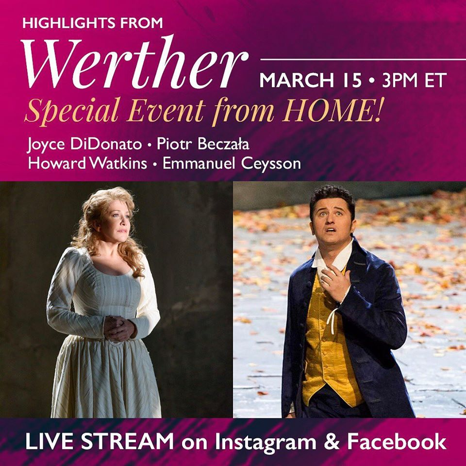 Two opera stars stream live recital from home