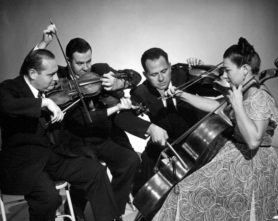 Unseen video of a legendary string quartet