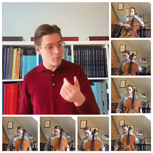 How a principal cello keeps her idle conductor occupied